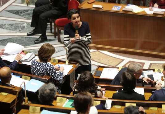 Najat Vallaud-Belkacem à l'Assemblée nationale, le 21 février.