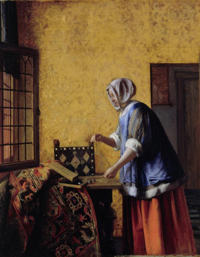 « La Peseuse d'or», de Pieter de Hooch (1629-1684), vers 1664, huile sur toile.