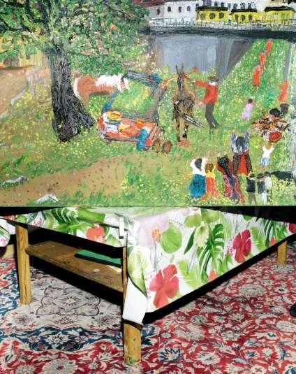 Des centaines d'œuvres de Ceija Stojka sont encore entreposées, depuis sa mort en 2013, dans l'appartement de son fils à Vienne.