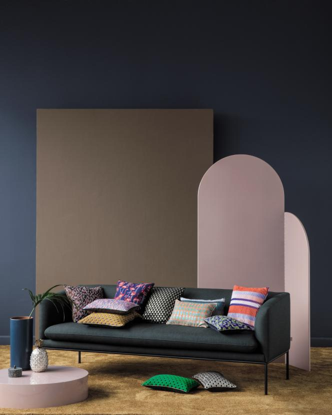 L'éditeur danoisFerm Living lancesa ligne The Scenesof Splendour, composée notamment de coussins aux motifs flamboyants.
