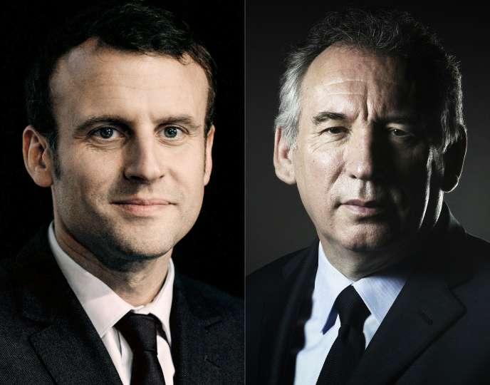 Emmanuel Macron (à gauche) et François Bayrou.
