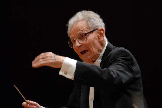 Le chef d'orchestre polonais, naturalisé américain, Stanislaw Skrowaczewski.