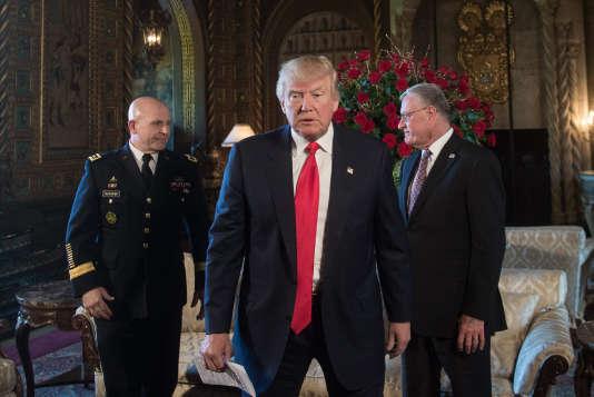 Donald Trump, dans sa résidence de Mar-a-Lago, à Palm Beach (Florida), le 20 février.