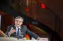 """François Fillon au débat sur la santé """"La place de la santé"""" organisé la Mutualité Française au Palais Brongniart à Paris, le 21 février 2017."""