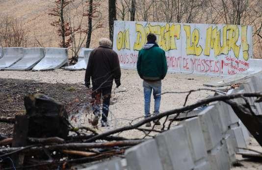 Des opposants au projet Cigéo,le 22 février àMandres-en-Barrois.