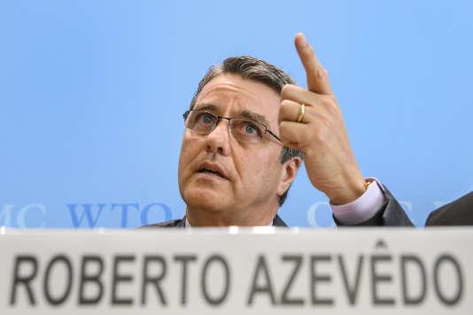 Roberto Azevedo, directeur général de l'Organisation mondiale du commerce, le22février 2017.