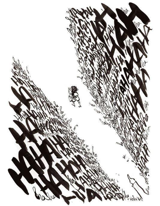 Un dessin de Luz pour l'exposition « Ô vous, frères humains » au MAHJ.
