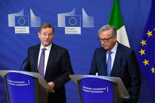 Le premier ministre irlandais, Enda Kenny, et Jean-Claude Juncker.