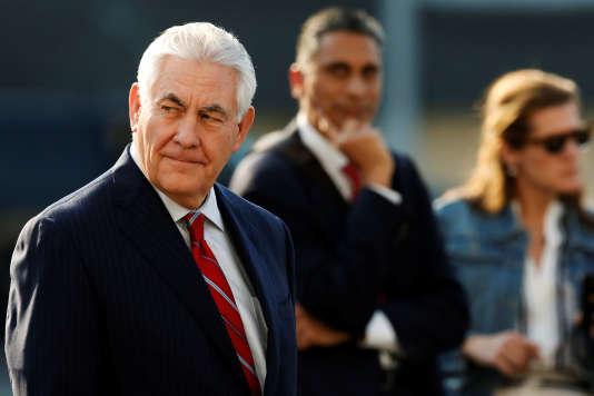 Le secrétaire d'Etat américain Rex Tillerson lors de son arrivée à Mexico le 22 février.
