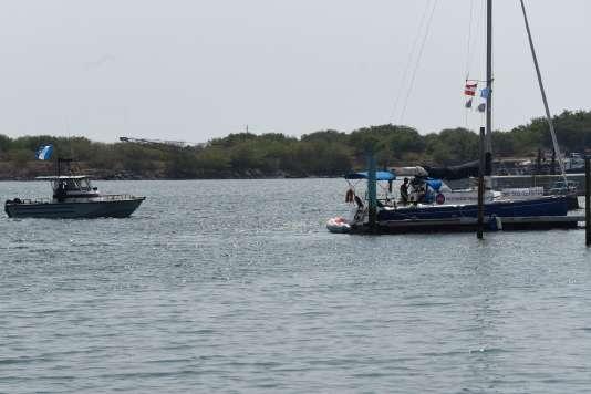 Le« navire de l'avortement» dans les eaux guatémaltèques, le 23 février.