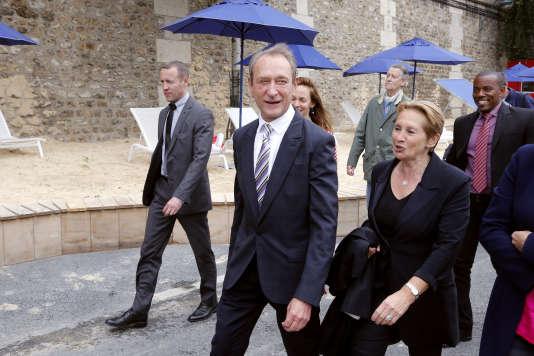 Bertrand Delanoë, alors maire de Paris, lors de l'édition 2012 de Paris Plages.