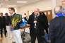 Bernard Giudicelli avec Richard Gasquet lors du premier tour de la Coupe Davis, contre le Japon, à Tokyo, le 4 février. Pierre Lahalle/Presse Sports