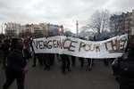 Une manifestation sauvage en soutien à Théo L. et contre les violences policières s'est déroulée place de la Nation (Paris), jeudi 22 février.