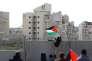 Manifestation palestinienne entre le village de Bilin (Cisjordanie) et la colonie israélienne de Modi'in le 17 février.