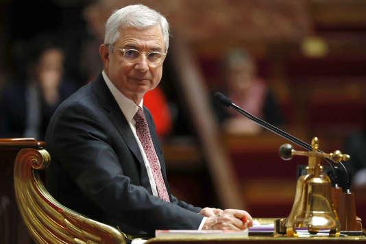 Claude Bartolone lors de la séance de questions au gouvernement à l'Assemblée nationale à Paris le 22 février.