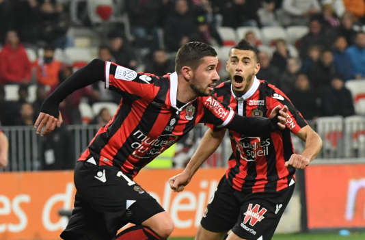 Mickael Le Bihan a marqué deux buts durant la rencontre contre Montpellier, le 24 février.