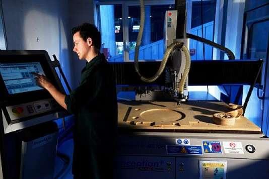 Dans les locaux d'une des écoles du groupe GrenobleINP, spécialisée dans le génie industriel.