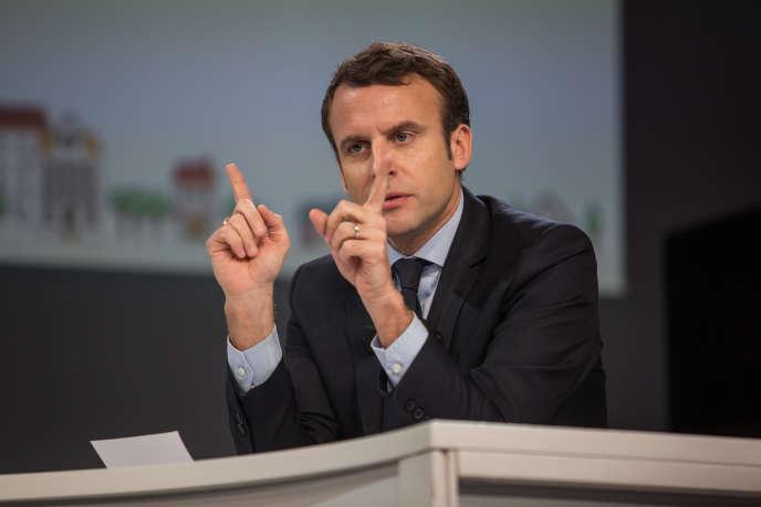 Emmanuel Macron, candidat du parti En marche ! à la présidentielle.