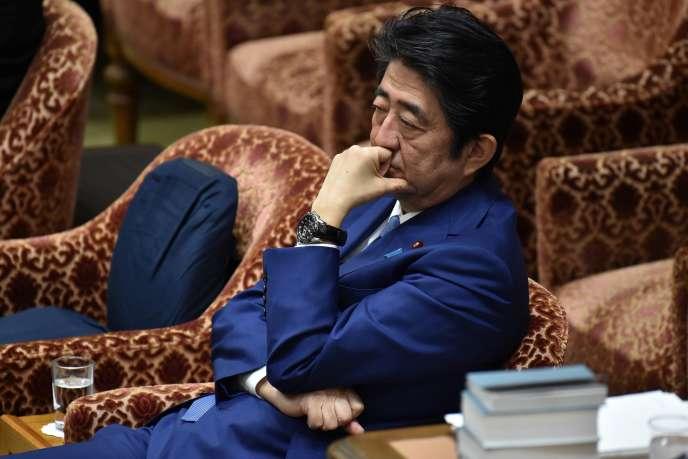 Shinzo Abe à la Chambre des représentants du Japon, le 24 février.