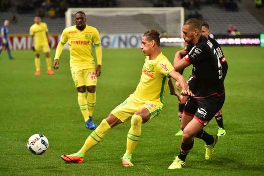 Lors du match opposant Nantes à Dijon.