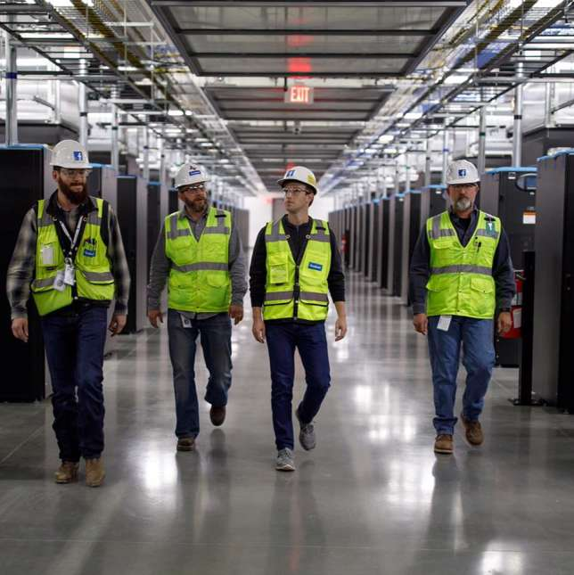 Visite du nouveau data center de Facebook, à Fort Worth, au Texas.