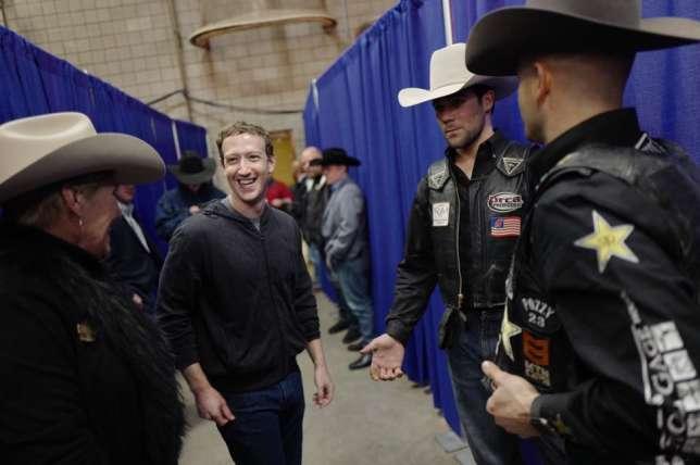 M. Zuckerberg lors d'un rodéo au Texas.