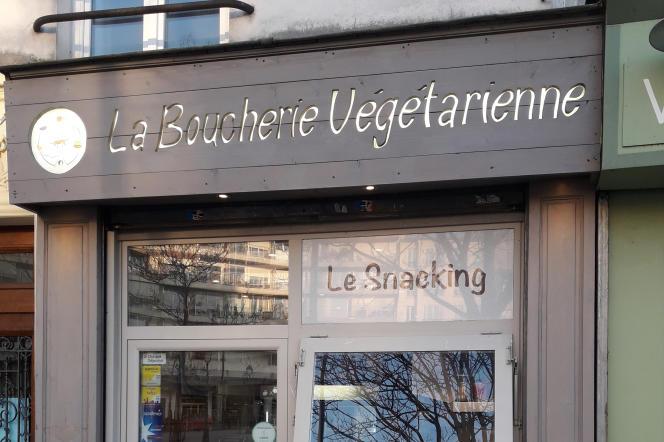 La Boucherie Végétarienne, place d'Aligre, à Paris