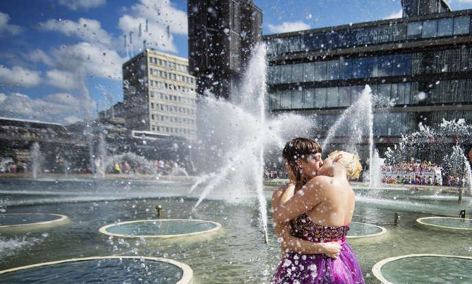 La gay pride de Stockholm, le 4 août 2012.