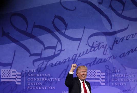 Donal Trump, lors de la Conférence d'action politique conservatrice,organisée dans le Maryland, le 24 février.