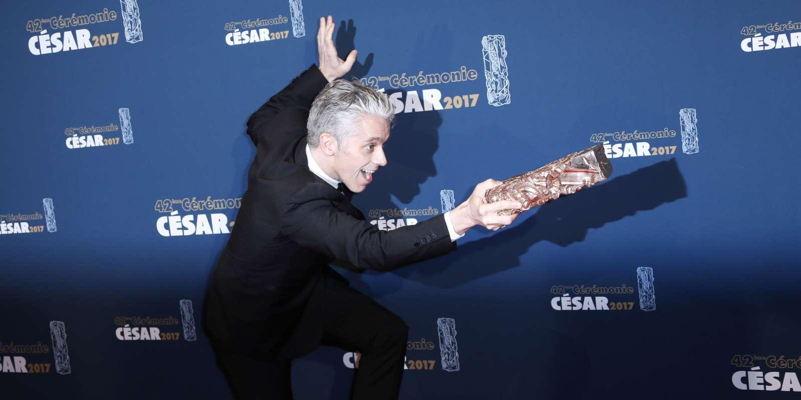 L'acteur James Thierree après avoir remporté le César du meilleur second rôle en 2017 pour le film « Chocolat».