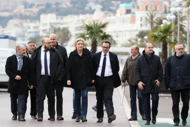 Marine Le Pen, à Nice, le 13 février.