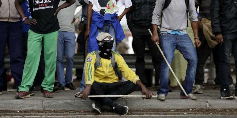 Manifestation contre les étrangers à Pretoria, le 24 février.