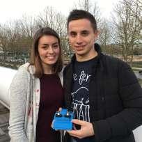 Sonia Antunes et Maxime Michau ont remporté le tournoi avec Aïe Robot.
