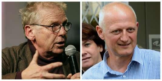 Daniel Cohn-Bendit, ancien eurodéputé d'Europe Ecologie-Les Verts, et Christophe Caresche, député socialiste, ont tous deux annoncé leur soutien à Emmanuel Macron, dimanche26février.