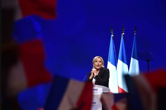 Marine Le Pen, à Nantes, le 26 février.