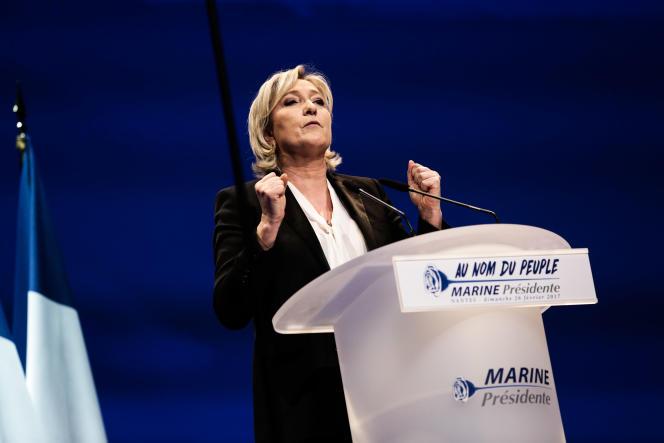 Marine Le Pen, àNantes, dimanche 26 fevrier.