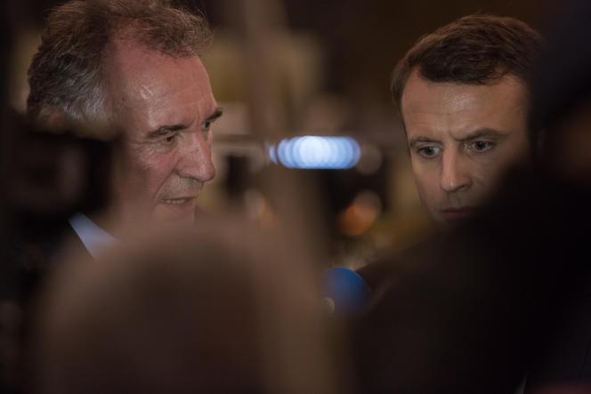 Emmanuel Macron et François Bayrou le 23 février.