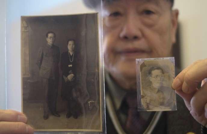 Pan Hsin-hsing, le fils d'une des victimes des massacres du 28 février 1947 (ci-dessus à Taipei, le 8 février).