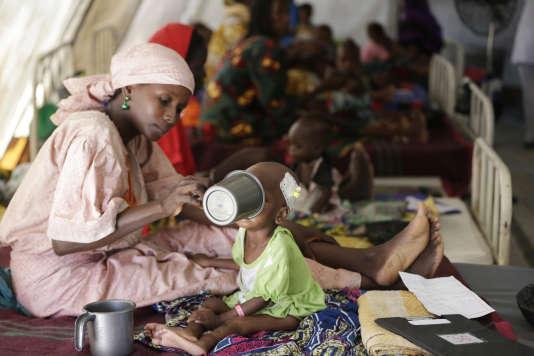 Dans le camp de Maïduguri (Nigeria) géré par Médecins du monde, en août 2016.