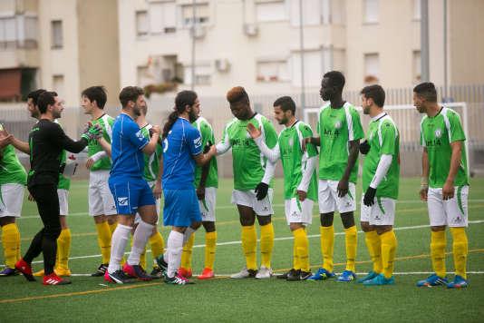 L'âme de l'Afrique, une équipe de troisième division en Andalousie formée par des migrants, africains en majorité, à Jerez de la Frontera.