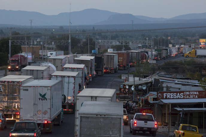 Point de contrôle des véhicules à Laredo (Texas), à la frontière avec le Mexique, en avril2014.