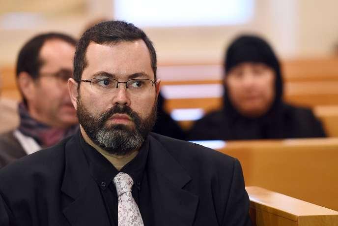 Xavier Crubezy lors de son procès devant le tribunal correctionnel de Marseille le 27 janvier 2017.