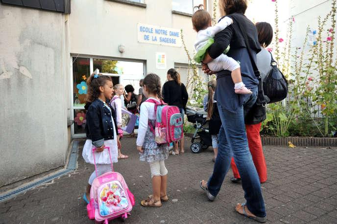 L'école Notre-Dame de la Sagesse, à Nantes, en 2012.