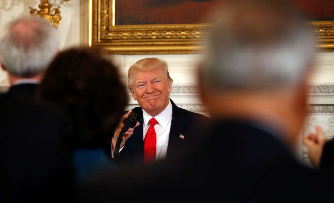 Le président américain Donald Trump, lors d'uneconférence des gouverneurs à la Maison Blanche, le 27février 2017.