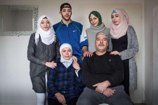 La famille syrienne Abou Rashed, à Lünebourg, en Allemagne, que suit «Der Spiegel» pour le projet« The New Arrivals».