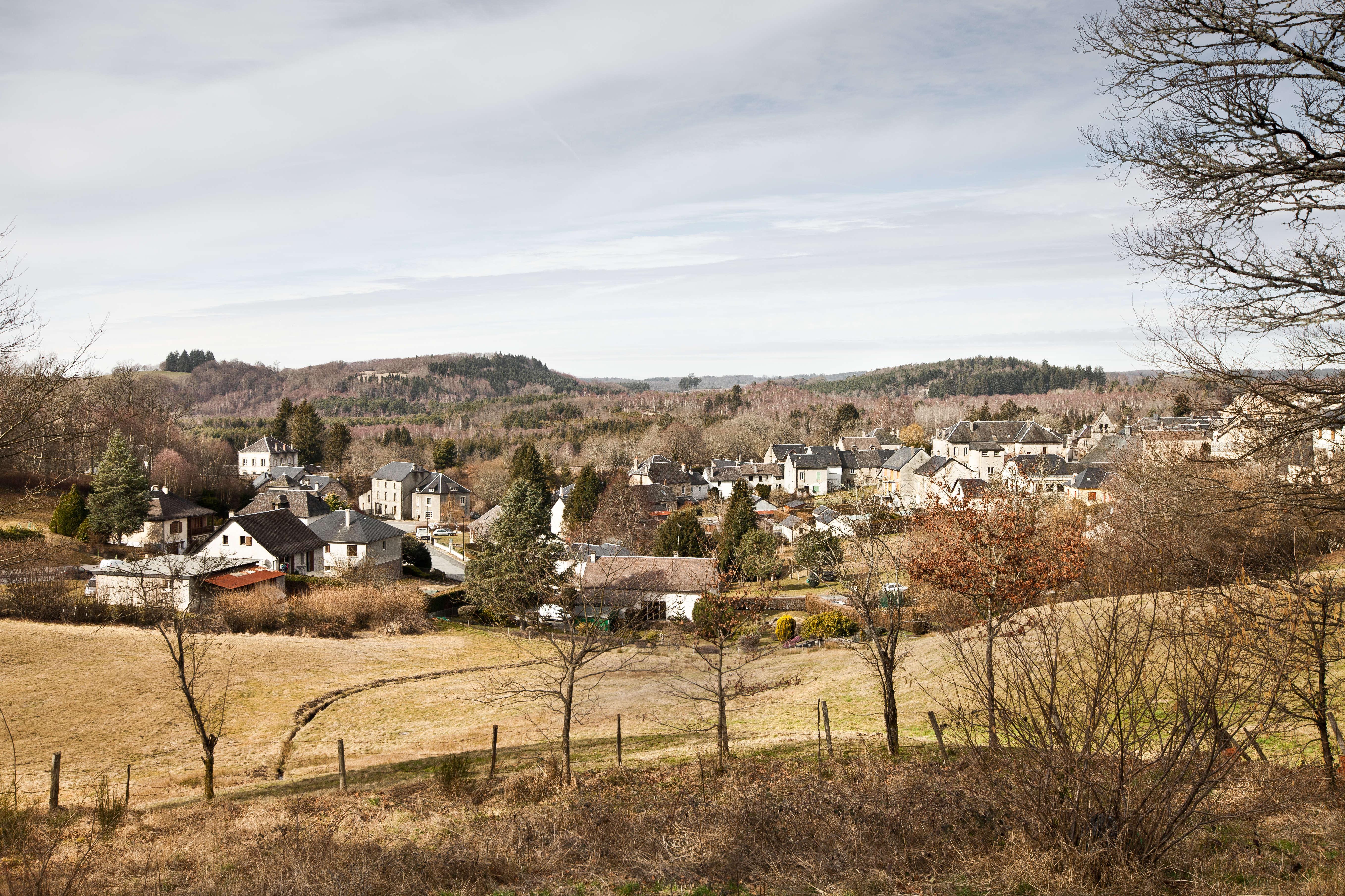 Le village de Bugeat, en Corrèze, est situé dans le parc naturel régional de Millevaches en Limousin.