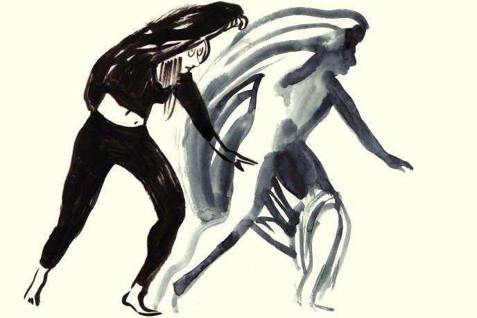 Illustration, par Catherine Meurisse, du duo qu'elle constitue avec DD Dorvillier.
