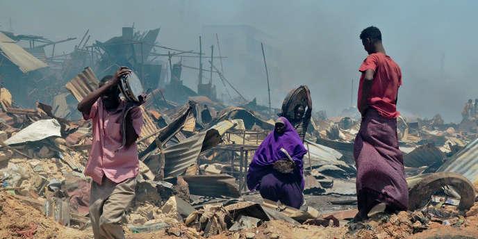 Sur un marché de Mogadiscio en février 2017.