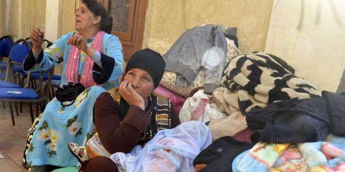 Dans l'église évangélique d'Ismaïlia qui a accueilli, courant février, plusieurs dizaines de familles coptes ayant fui Al-Arish après plusieurs attaques qui ont tué sept personnes en un mois.