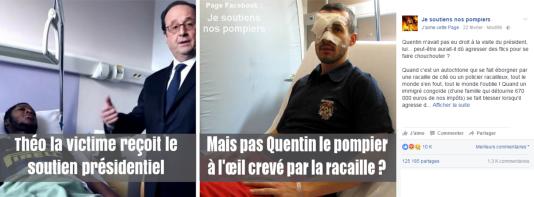 Le sapeur-pompier Quentin a été blessé en décembre 2013, lors d'une manifestation à Grenoble, où il a reçu un projectile tiré par un policier et non une « racaille ».